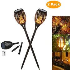 US 2PC 33LED Solar Power Flame Dance Light Outdoor Waterproof Garden Torch Lamp