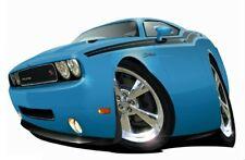 2010-13  Dodge Challenger R/T Muscle Car T-Shirt #6744 RT automotive art