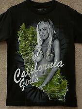 """Hustler Men T-Shirt  """"Cali Girls """"  -- Color Black, Size S"""