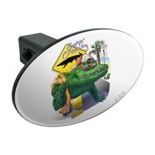 Alligator Gator Crossing Sunglasses Oval Tow Trailer Hitch Cover Plug Insert