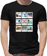 Polaroid Collage Skateboard Mens T-Shirt - Skater - Skate - Skateboarder - Sport