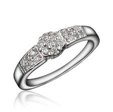 Ringe Damen Geburtstagsgeschenk Kristall Geschenk Klasssisch Silber 55mm 58mm 1A