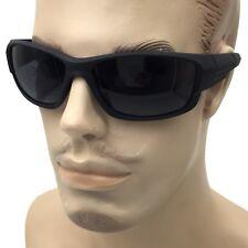 Men Black Matte Sunglasses Wrap Around Driving Fuel Fishing Hunting Cell Glasses