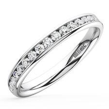 0.20carat Round Brilliant Cut Diamonds Half Eternity Wedding Ring in 950Platinum