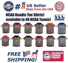 NCAA HOODIE TEE for DOGS & CATS Licensed Football/Basketball Hoody Tee Shirt