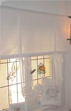 Raffrollo Gardine weiß 60/90/110/130/150 cm x 100 cm Landhaus Shabby Chic
