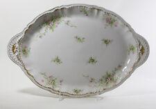 """Antiques Haviland Limoges Pink Rose Oval Platter 18.5"""""""
