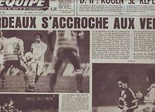 journal  l'equipe 09/11/81 RUGBY BARRIANS FRANCAIS NOUVELLE ZELANDE FOOT ASSE
