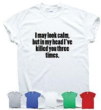 Funny T Shirt Humour Tee Cadeau Pour Hommes Femmes Tumblr Hipster Geek je peut paraître calme