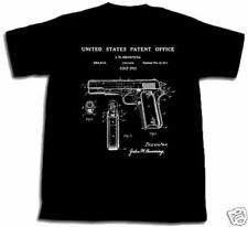 COLT 1911 PISTOL PATENT SHIRT XXL 2XL T Shirt art gun!!!! Browning M1911 45 cal