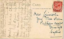ST AUBIN /JERSEY :  : 1928 single ring cancel on picture postcard