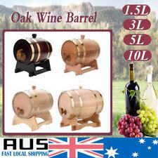 1.5L/3L/5L/10L Oak/Vintage Wooden/Wine Barrel Beer Whiskey Rum Brewing Port Kegs