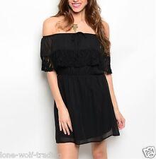 Ladies Little Black Off the Shoulder Clubbing/Party/Evening Dress-RT-9 CN218385