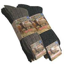 3, 6 Or 12 Pairs Mens Gents Big Foot Wool Blend Socks Size UK 11-14