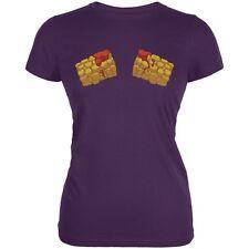 Hot Tots Purple Juniors Soft T-Shirt
