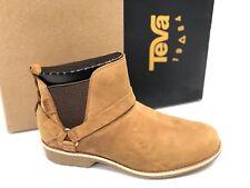 Teva Womens De La Vina Dos Chelsea PECAN Brown 1017146 Casual Ankle Leather Boot