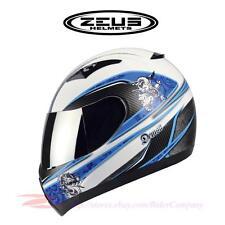 """ZEUS ZS-2100 Motorcycle Helmet Full Face + """"Bonus"""" Peak Visor Conversion Kit DOT"""