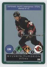 1995-96 Playoff One on Challenge 290 Sylvain Turgeon Ottawa Senators Hockey Card