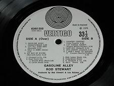 Rod Stewart GASOLINE ALLEY UK 1st  1970 Vertigo Swirl  6360 500 STEREO LP. EX+!!