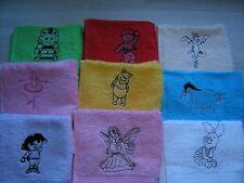 Embroidered face flannel/cloth,Fairy,Ballet,Tigger,Pooh,Thomas,Bob,£3.95 inc P&P