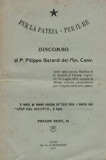 GERARDI_MONARCHIA_SAVOIA_PER LA PATRIA E PER IL RE_PADOVA_1915_MILITARIA_D'EPOCA