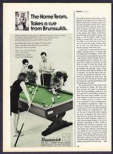 "1968 Brunswick Billiard Pool Table photo ""Home Team"" Ad"