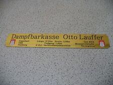 Namensschild für Modellständer mit Daten  -  Dampfbarkasse Otto Lauffer
