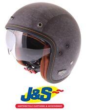HJC FG-70S Vintage Flat Black Open Face Motorcycle Helmet Cruiser Summer J&S