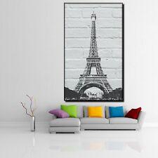 LEINWAND BILD ER XXL POP ART EIFELTURM BANKSY PARIS GRAFFITI POSTER -90x150