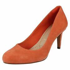 Clarks da donna in pelle scamosciata scarpe in pelle eleganti 'Carlita Cove'