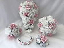 Noir Ivoire Mariage Fleurs Demoiselles D/'honneur Fleur Fille Papillon Baguette Diamants
