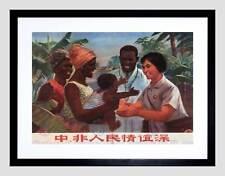 La cina politica comunismo AFRICA Doctor Nero Incorniciato ART PRINT PICTURE b12x4550