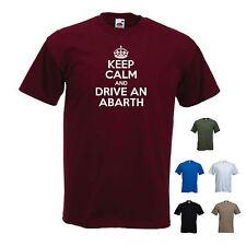 """""""Keep Calm e guidare una ABARTH"""" MONOMILLE, FIAT, BIPOSTO, SIMCA DIVERTENTE MAGLIETTA"""