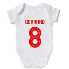 STEVEN GERRARD 8 LIVERPOOL FC LEGEND LFC FANS BABY GROW VEST GIFT