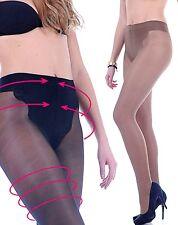 -40% Bikini figurformende Relax Strumpfhose T-Band 40 den schwarz beige Bauchweg