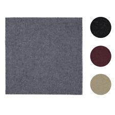"12 Pcs Self-Adhesive Solid Carpet Tiles Actual: 12"" x 12"" Red/Gray/Black/Beige"
