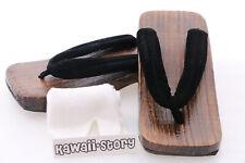 K-G-17 schwarz Samt Orginal Herren Japan Geta Holz Sandale Socken Kimono Yukata