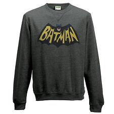 OFFICIAL DC COMICS BATMAN 1966 BAT SYMBOL NAVY BLUE SWEATER JUMPER (BRAND NEW)