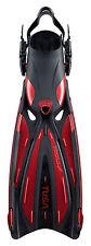 Tusa Solla SF22 Fin Open Heel  All Sizes for Scuba Snorkeling Metallic Dark Red
