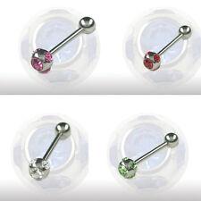1,2mm 1,6mm Piercing Barbell Stab mit 5 Kristall Kugel Ohr Helix glitzer Stecker