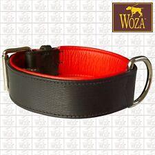 WOZA Premium Hundehalsband Vollleder Lederhalsband Rindnappaleder Collar   E2735