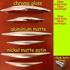 Porte de cuisine armoire placard tiroir nœud poignées Acier Mat / Gloss / satin