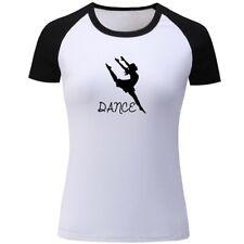 Dance Design Designs Womens Girls Casual T-Shirts Print Graphic Tops Tee Shirts