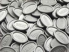 Bono de Consumición Moneda Prenda Getränkemarken Ovalado - Plata Gris-Metalico