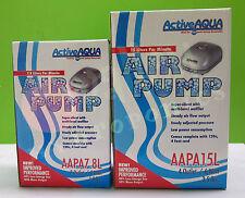 Active Aqua 7.8L 15L Air Pump Flow Hydroponics Aquarium Air Stone Diffuser