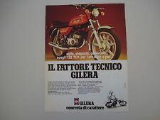 advertising Pubblicità 1981 MOTO GILERA 125 TG1 TG 1
