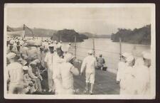 1920s Rp Postcard Us Navy Battleship Uss North Dakota Bb29 Darien Area Panama