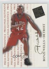 1998-99 Press Pass Authentics 9 Bonzi Wells Ball State Cardinals Basketball Card