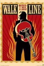 63344 JOHNNY CASH - WALK THE LINE - RARE Wall Print Poster CA