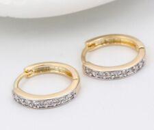 "SALE 9ct 9K Multi "" Gold Filled "" Men  made with Swarovski Crystal Earring 600"